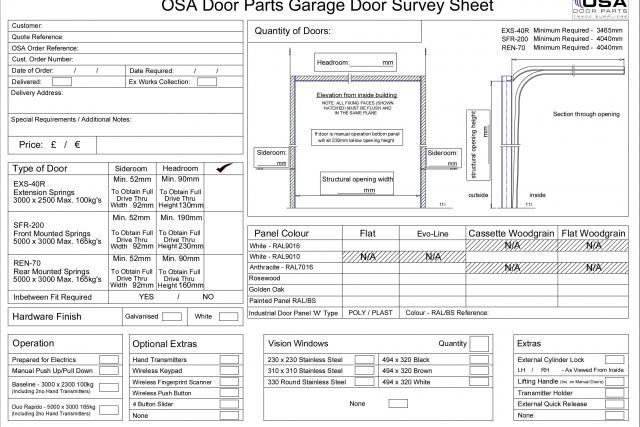 Sectional Garage Doors 187 Osa Door Parts Limited